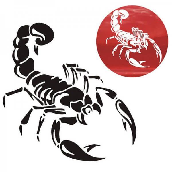 картинки наклейка скорпион