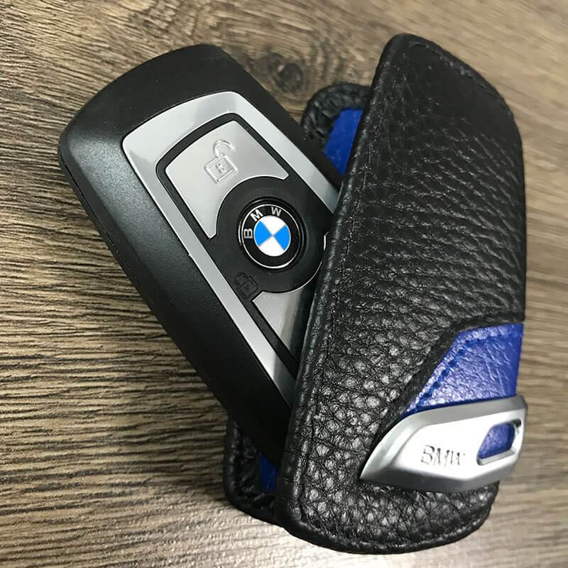 фото кожаный чехол для смарт ключей bmw