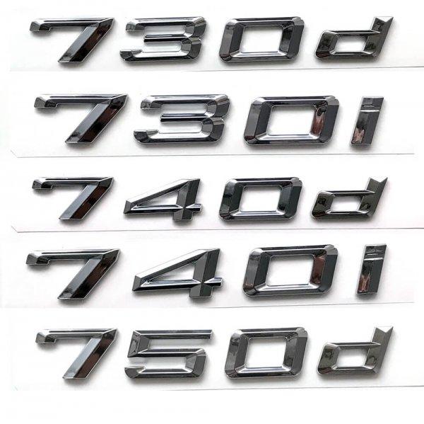 фото цифры объема двигателя bmw 730d 730i 740d 740i 750d 750i 760i