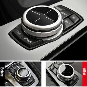 фото накладка на джойстик iDrive бмв E60 E70 E90 E92 F10 F15 F30 F20