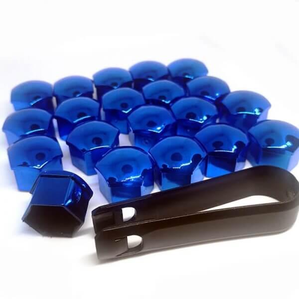 фото синие колпачки на болты дисков